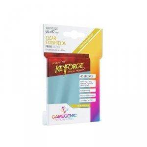 Gamegenic: Prime KeyForge Exoshields Clear (66x92 mm), 40 sztuk