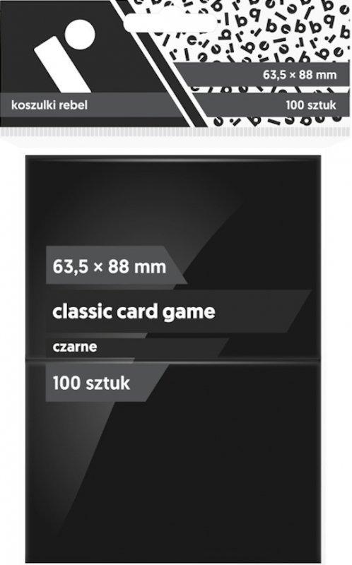 "Koszulki na karty Rebel (63,5x88 mm) ""Classic Card Game"", 100 sztuk, Czarne"