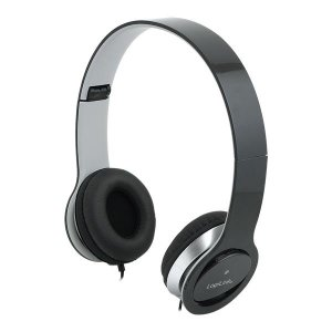 Słuchawki z mikrofonem LogiLink HS0028 stereo HQ, czarne