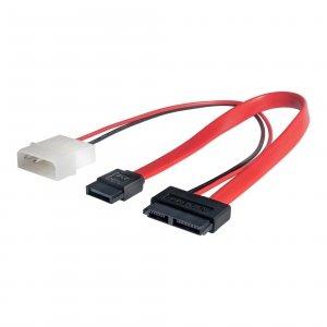 Kabel Slim SATA/SATA/MOLEX Akyga AK-CA-45 0,2m