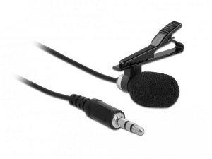 Mikrofon Delock 66279 doczepiany klipsem do ubrania + adapter Jack 4Pin
