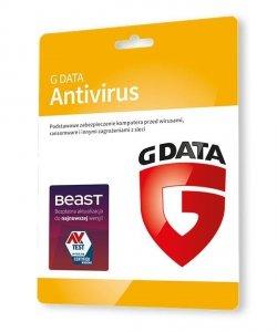 GDATA Antivirus 2PC 1rok karta-klucz