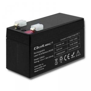 Akumulator AGM Qoltec | 12V | 1.3Ah | max.0.39A