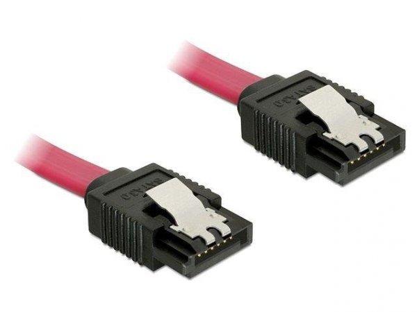 Kabel Delock SATA DATA III 0,2m z zatrzaskami metalowymi