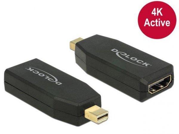 Adapter Delock DisplayPort MINI 1.2->HDMI aktywny 4K black