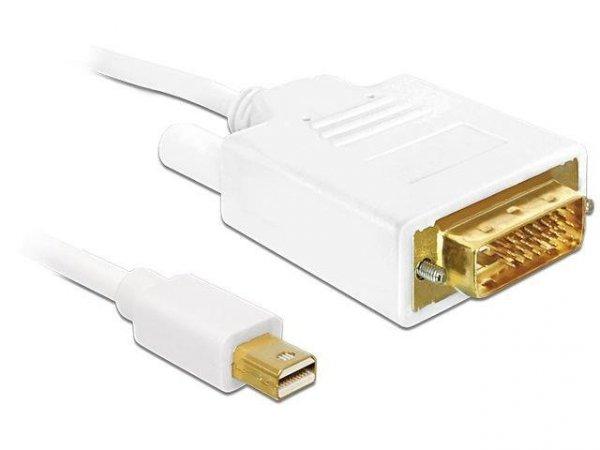 Kabel Delock mini DisplayPort - DVI-D M/M 2m biały dual link