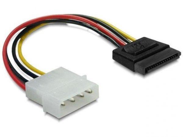 Kabel Delock SATA zasilający (M) -> Molex (M) 0,06m