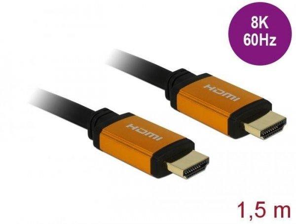 Kabel HDMI Delock M/M v2.1 1,5m 8K 60Hz czarny