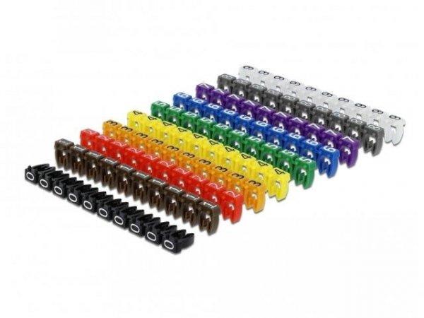 Organizer kabli Delock - znacznik multikolor liczby 0-9 100 sztuk