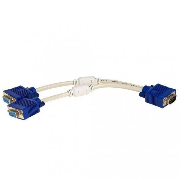Kabel adapter Akyga AK-AD-20 VGA M - 2x VGA F 0,25m