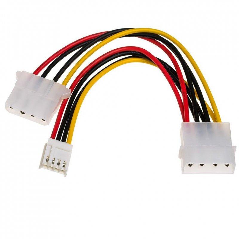 Kabel adapter Akyga AK-CA-14 Molex (M) -  Molex (F) + miniMolex (F) 0,15m
