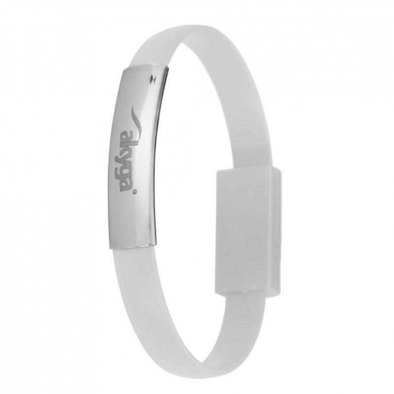 Kabel adapter USB 2.0 Akyga AK-AD-34 USB A/F - micro USB B/M 0,23m biały