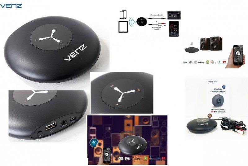 Adapter bezprzewodowy Bluetooth Venz Wi-Fi MultiRoom do głośników