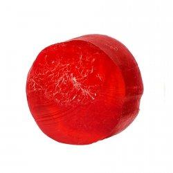 GLYCERINE SOAP WITH LOOFAH SPONGE - raspberry