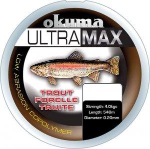 ŻYŁKA Okuma Ultramax 2oz Trout 985m 11lbs 5.6kg 0.25mm Grey