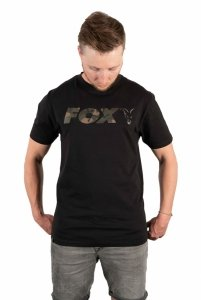 Fox t-shirt Black/Camo Chest Print T-Shirt L CFX021