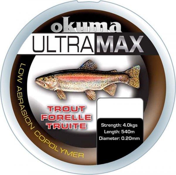ŻYŁKA Okuma Ultramax 2oz Trout  4kg/0.20mm 1535m