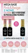 MEGA Baza Pink pod lakier hybrydowy Pink (hard,hardi,base) Victoria Vynn - RÓŻOWA