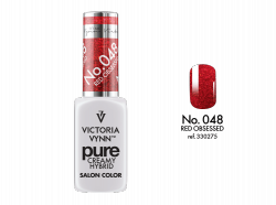 048 Red Obsessed - kremowy lakier hybrydowy Victoria Vynn PURE (8ml)