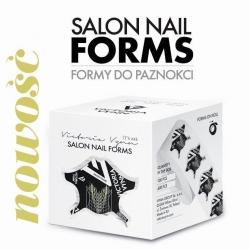 NOWE Czarne Szablony, formy do przedłużania paznokci 400 szt - Victoria Vynn