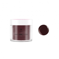 Puder do manicure tytanowy 20g - KABOS Dip 35 Burgundy Dot