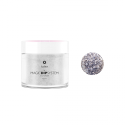 Puder do manicure tytanowy 20g - KABOS Dip 17 Sparkle Silver