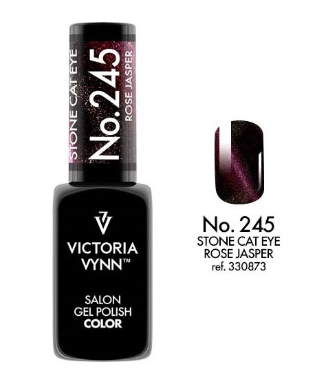 GEL POLISH Lakier hybrydowy CAT EYE Rose Jasper 8 ml (245) Victoria Vynn
