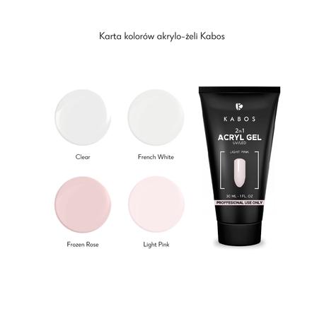 Kabos 2in1 Akrylo-żel Clear, 30ml (przezroczysty)