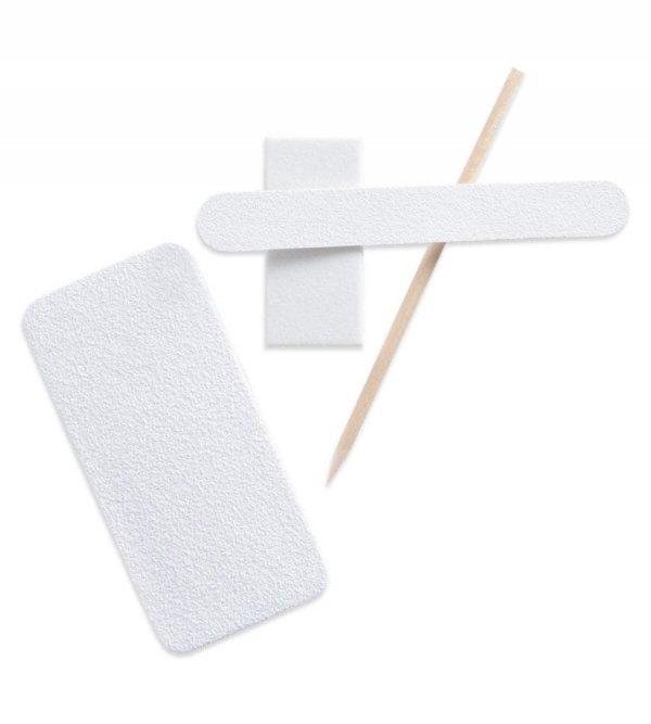 Profesjonalny sanitarny zestaw Pedicure Cuccio x 10 (pilnik,bloczek,pumeks,patyczek)