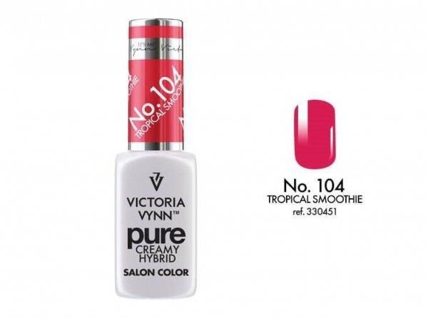 104 Tropical Smoothie - kremowy lakier hybrydowy Victoria Vynn PURE (8ml)