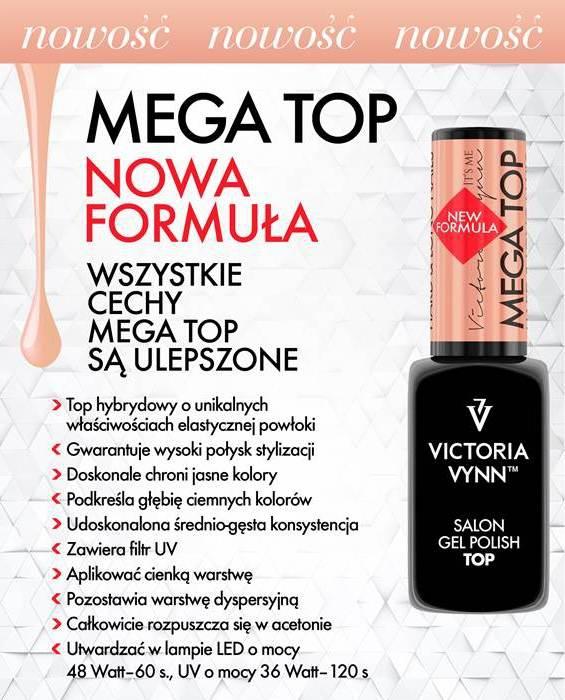 MEGA Top (Hard, hardi) utwardzający 8ml - Victoria Vynn - ulepszona formuła