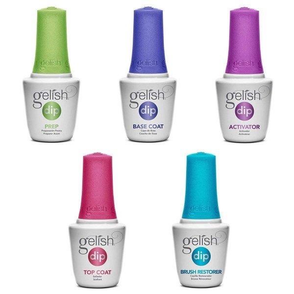 Gelish Dip Top Manicure tytanowy krok 4  - utwardzacz 15ml