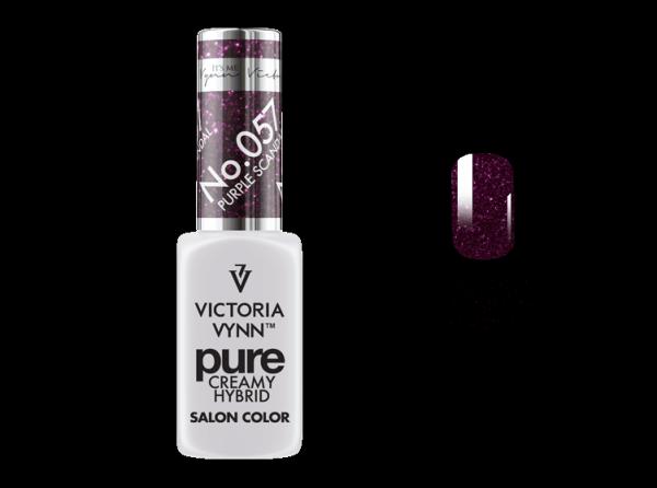 057 Purple Scandal - kremowy lakier hybrydowy Victoria Vynn PURE (8ml)