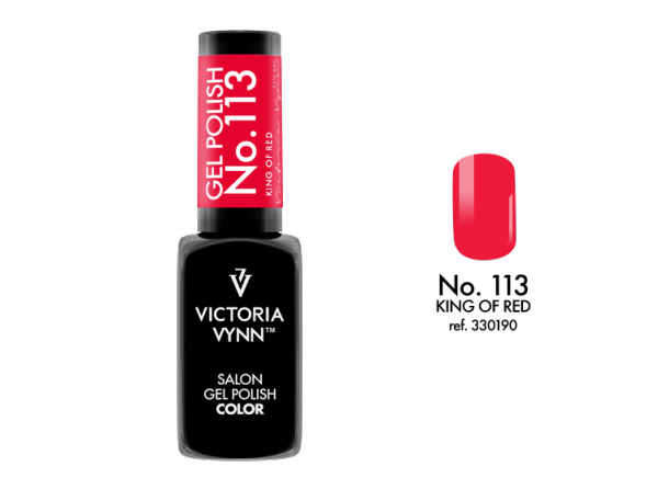 113 King of Red Lakier Hybrydowy Victoria Vynn Gel Polish