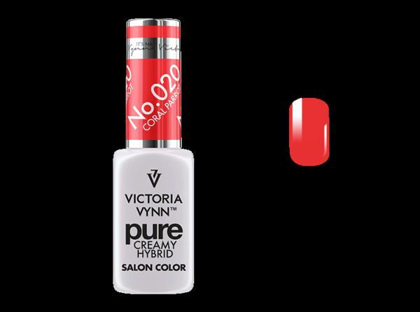 020 Coral Parrot - kremowy lakier hybrydowy Victoria Vynn PURE (8ml)