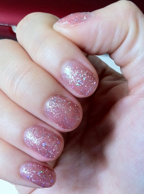 Lakier hybrydowy kolor: June Bride 15 ml (1110835) - brokatowy GELISH