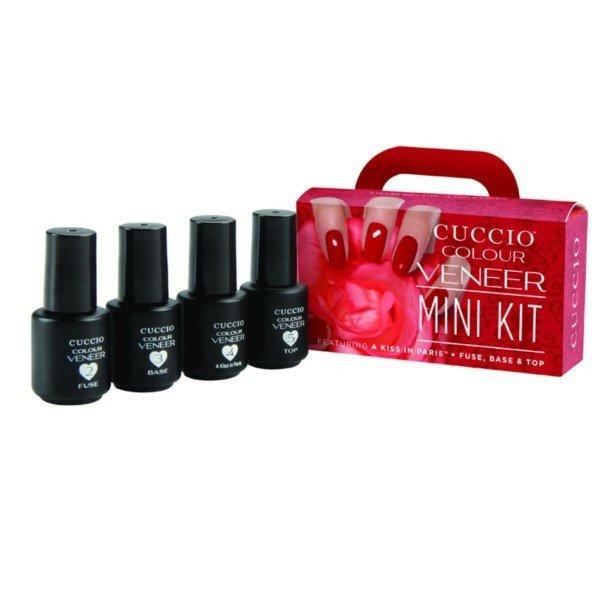 Mini Zestaw Startowy Do Manicure Hybrydowego Bez Lampy Zestaw Veneer Mini Red 375 Mlx4