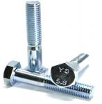 Śruby M10x120 kl.5,8 DIN 931 ocynk - 1kg