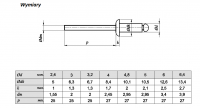 Nit zrywalny 4,8x12 AL/ST ISO 15977 - 1kg