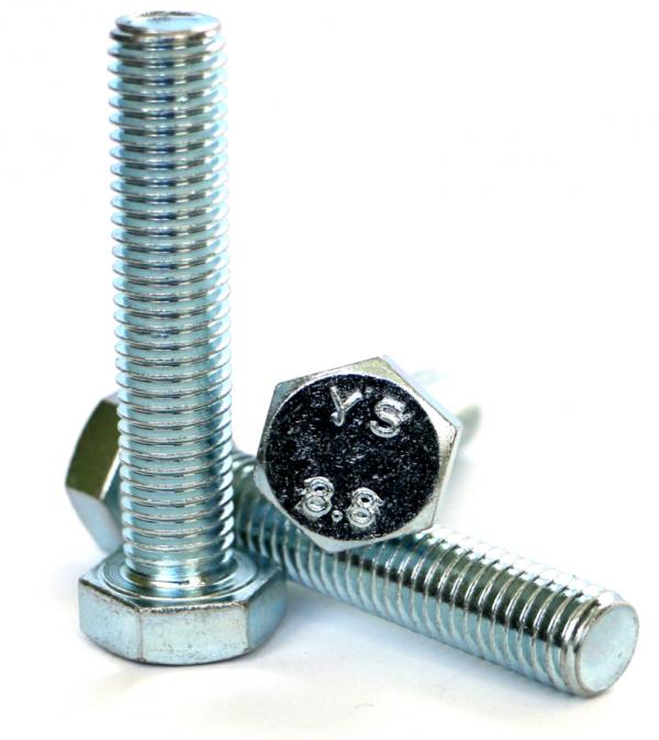 Śruby M8x50 kl.8,8 DIN 933 ocynk - 1 kg