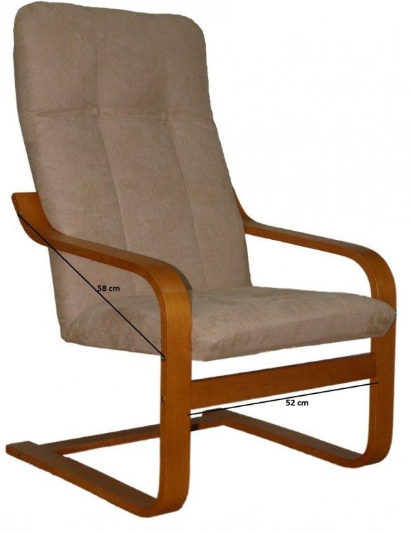Poręcz prosta stelaż fotela finka