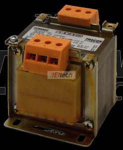 Transformator bezpieczeństwa, jednofazowy 230-400V / 24-230V, max.60VA TVTRB-60-F