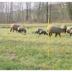 Siatka ClassicNet dla owiec 50m, 108 cm, podw. szpic, pomarańczowa