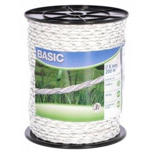 Linka BASIC 200m, 6mm, 2x0,5mm biała
