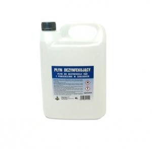 Płyn do dezynfekcji rąk i powierzchni w zakładach 4L