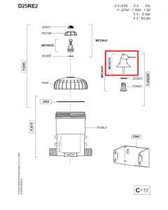 Zestaw obejściowy do dozownika Dosatron D25RE