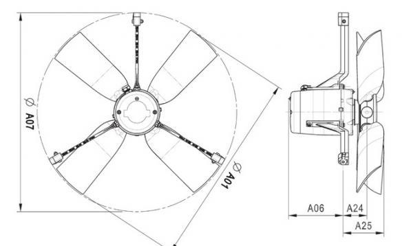 Wentylator kominowy 4E45 6400 m³/h