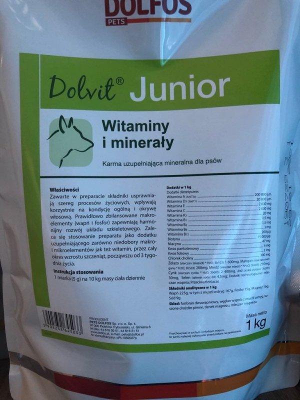 Dolvit Junior - witaminy, minerały dla szczeniąt i młodych psów