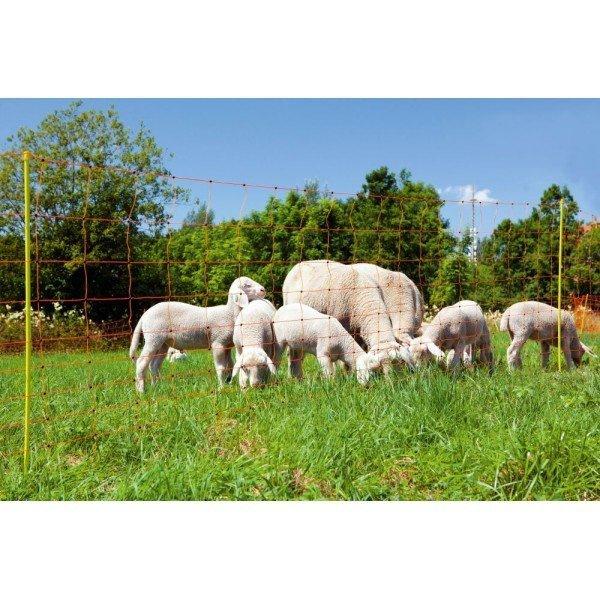 Siatka ClassicNet dla owiec 50m, 108 cm, poj. szpic, pomarańczowa