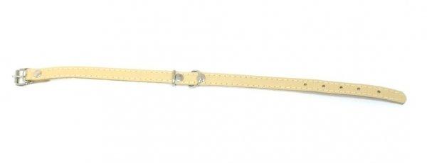 Obroża skórzana beżowa 65cm